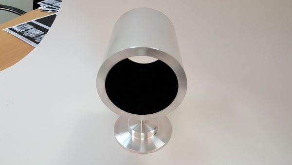 metallic tube coated with ultra black coating from the inside